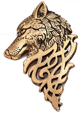 Game of thrones Stark Wolf Brooch