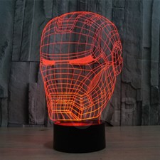 Iron Man  Mask 3D Lamp