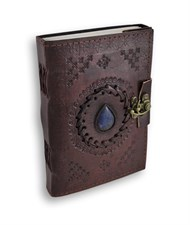 Magic Stone Embossed Leather Diary