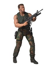NECA Predators Dutch Arnold Schwarzenegger Action Figure, 1/4 Scale