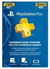 Playstation Subscription Card 12 Months