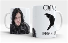 Jon Snow Crows Before Hoes  Mug