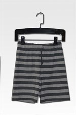Grey Stripe Shorts
