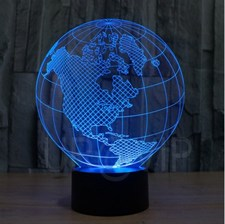 Earth 3D LED Lamp