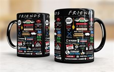 Friends Quotes Black Mug