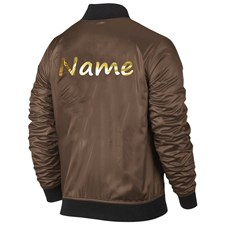 Metallic Gold Name Bomber