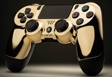 Gold Shell PlayStation 4 Controller