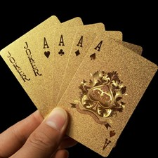 Gold Foil Playing Card