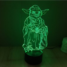 Star Wars Yoda 3d Lamp