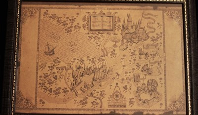 Vintage Replication Harry Potter Wizarding World Map Magic Poster ...